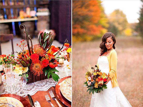 образ невесты осенью и оформление свадьбы #wedding #decor #fall #autumn #осень #декор #свадьба_осенью