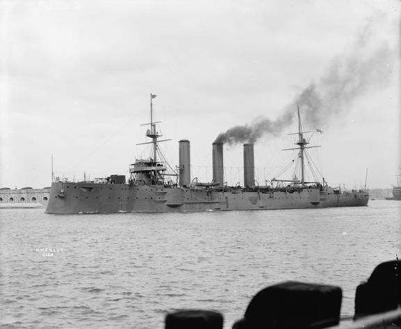 HMS Kent, one of the British ships at the Battle of the Falkland Islands 8th December 1914 http://www.britishbattles.com/battle-of-the-falkland-islands/