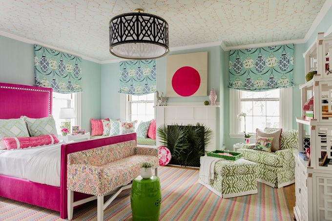 vibrant and colorful bedroom | Elizabeth Home Decor and Design