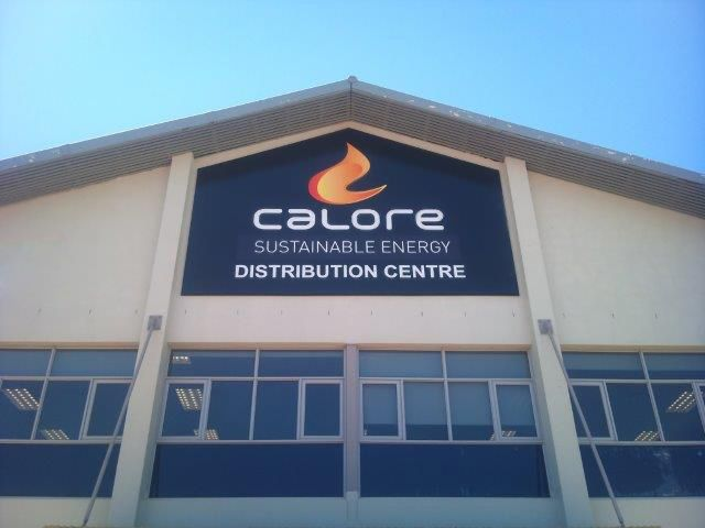 Our new Head Office signage is up... Its official - Calore Sustainable Energy  www.calore.co.za