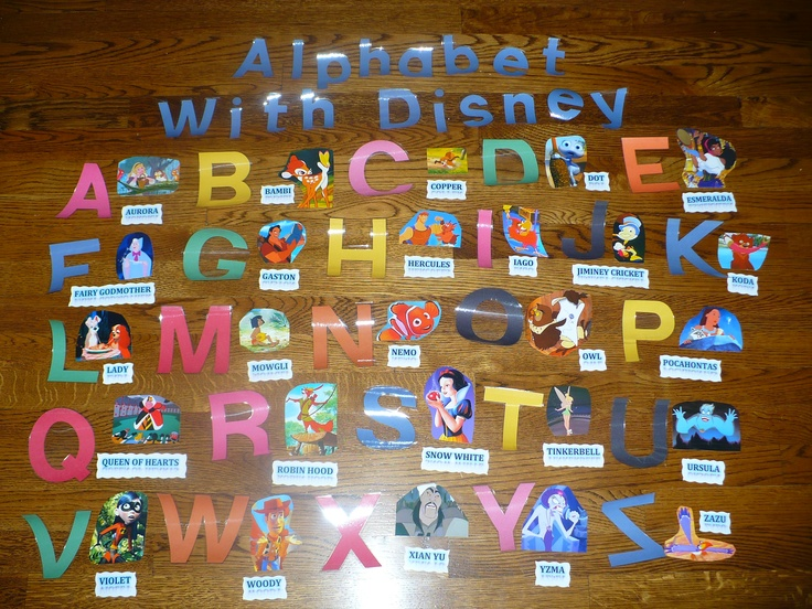 8. BULLETIN BOARD I didnt have a bulletin board on me but thats what it would look like. Each character is from a different Disney/Pixar Movie