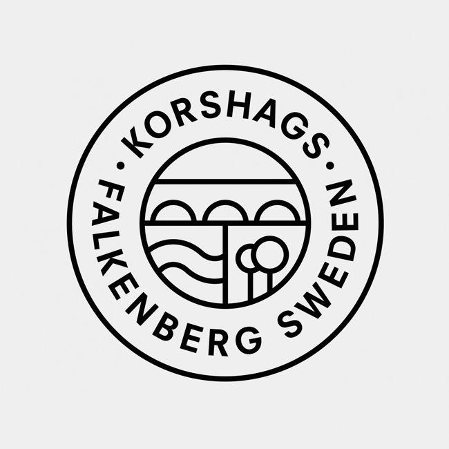 Logo design for Swedish seafood producer Korshags by Kurppa Hosk.