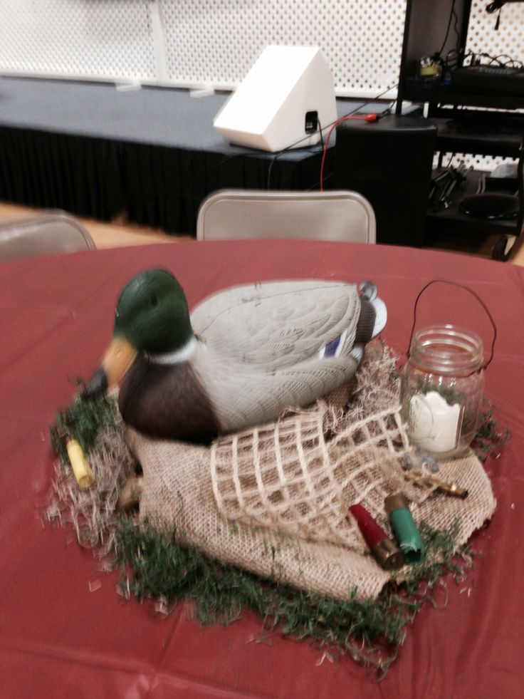 Hunting Themed Centerpiece Used For Decorating A Father S