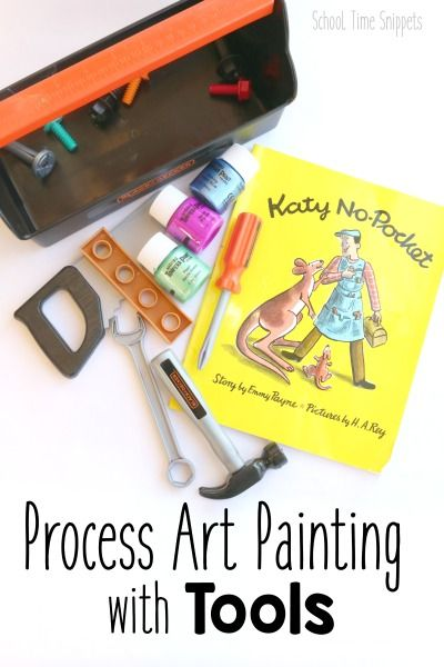 Process Art Painting with Katy-No Pocket Storybook from School Time Snippets. Pinned by SOS Inc. Resources pinterest.com/sostherapy/