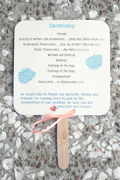 So cute! Another #fan that doubles as a ceremony program {Reese Moore Weddings}