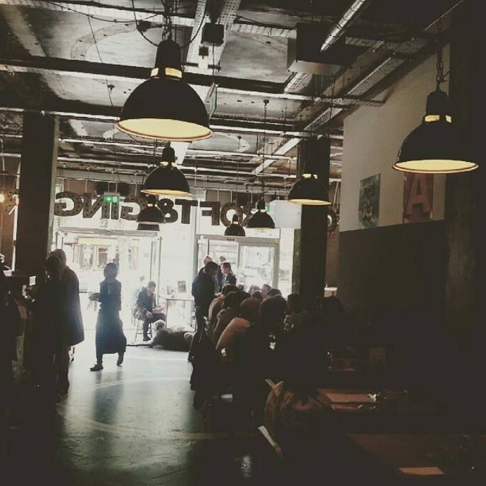 Awesome #urban cafe in #east #london today- inspiring #workspace!