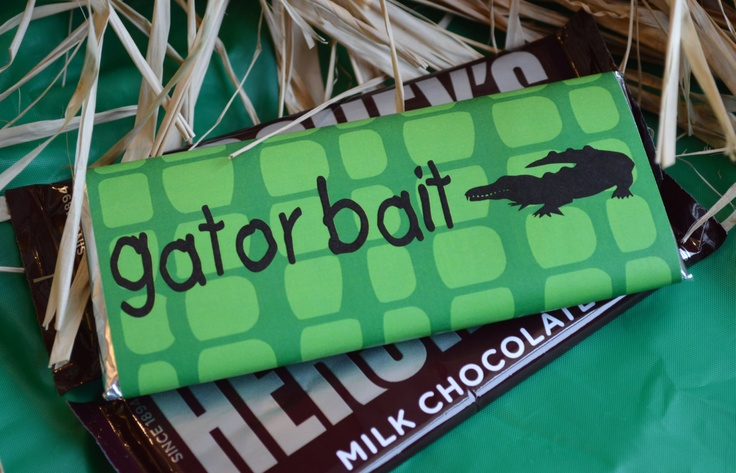 Swamp or Gator Party  Gator Bait Candy Bar Wraps