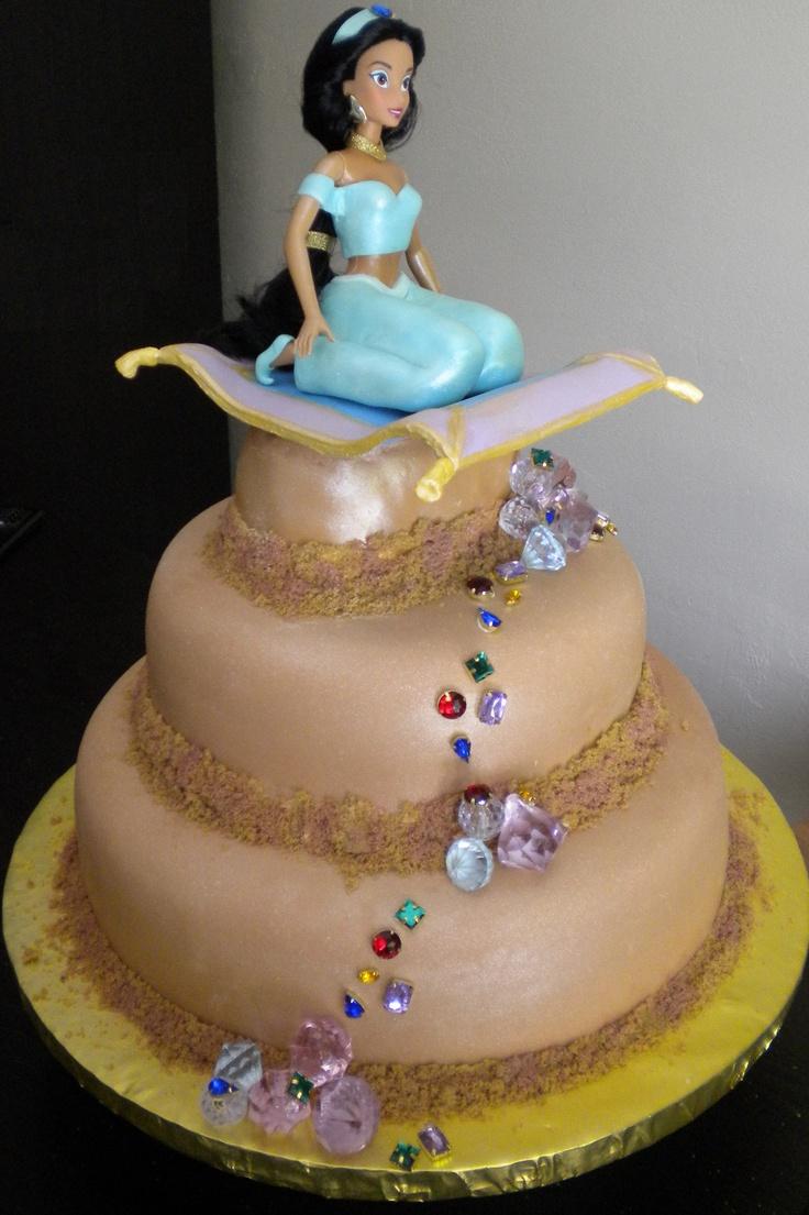 Princess Jasmine Cake Aladdin Cakes Pinterest