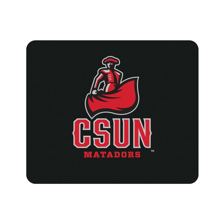 California State University - Northridge V2 Black Mouse Pad, Classic
