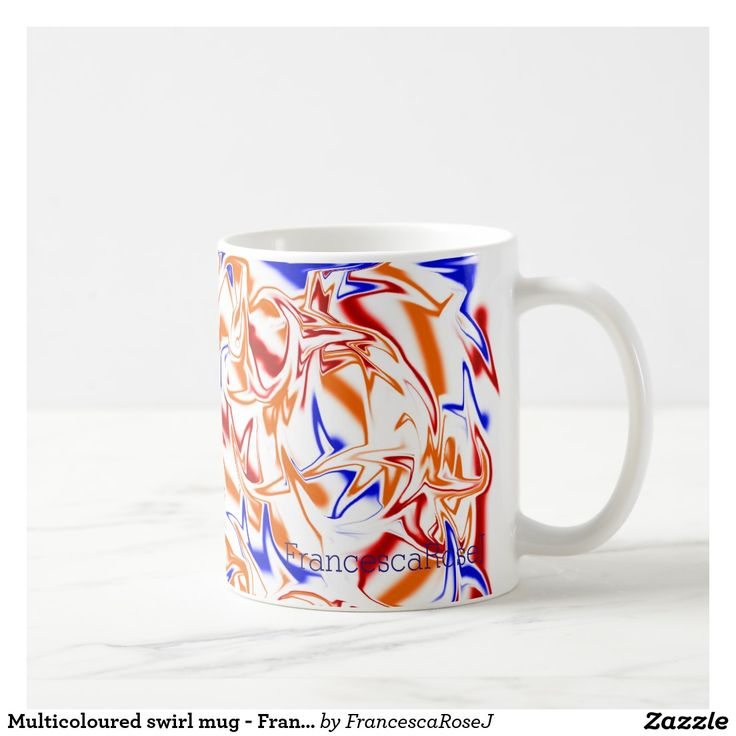 Multicoloured swirl mug - FrancescaRoseJ