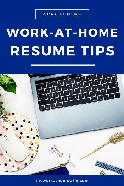 work from home resumes