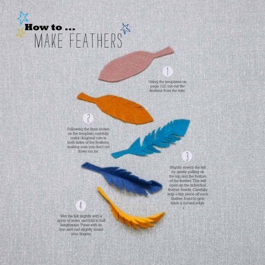 HowToMake felt Feathers