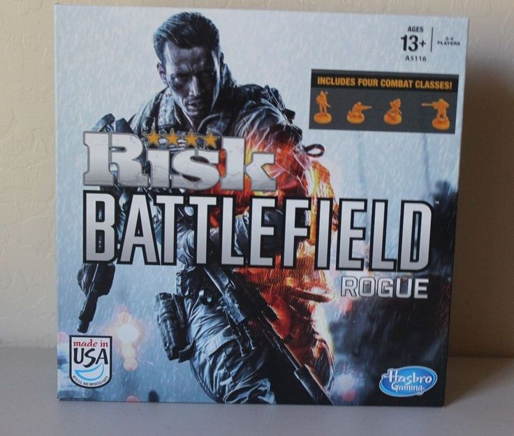 Risk Battlefield Game Rogue Hasbro - Includes 4 Combat Classes - New Sealed #Risk