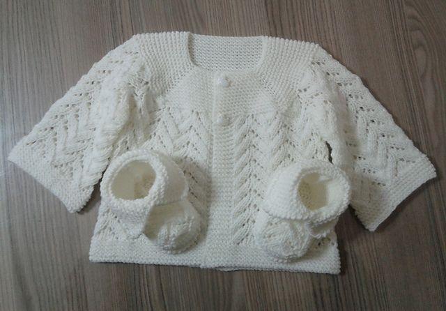 Ravelry: Baby Lace Cardigan by Beyhan Çayır -- free pattern