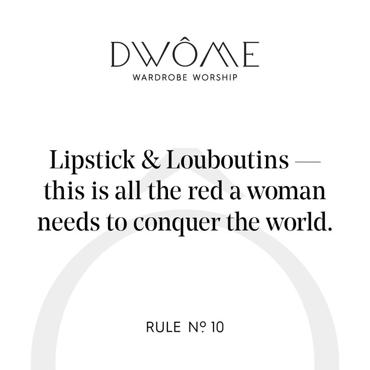 Wardrobe Worship: Lipstick & Louboutins - this is all the red a woman needs to conquer the world.