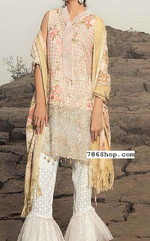 Peach/White Linen Suit | Buy Rangrasiya Pakistani Dresses and Clothing online in USA, UK