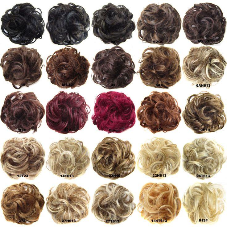 Women's Wave Curly Hairring Synthetic Flexible Scrunchie Wrap For Hair Bun Ponytail 25 Colors JACEN HAIR Q5-1