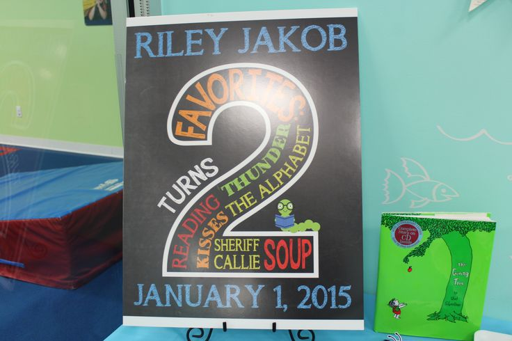 2nd Birthday Chalkboard Sign