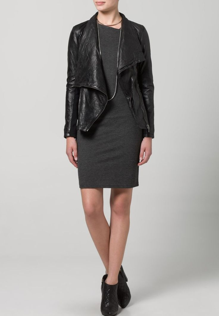 Cigno Nero - STELLA - Leather Jacket - black