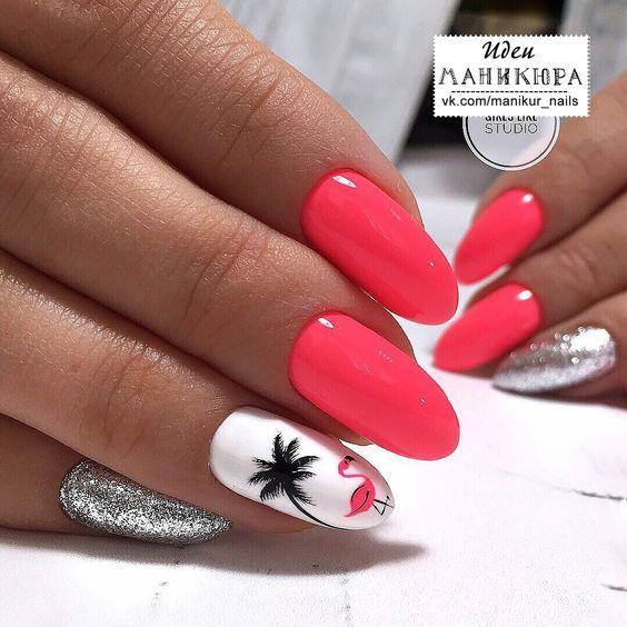 46 Pretty Flamingo-ideeën voor nagelkunstontwerp