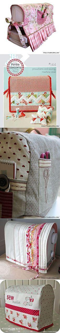 Чехлы для швейной машины. Идеи для вдохновения.