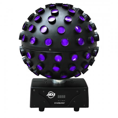 American DJ Starburst 5 x 10W RGBWA LED Mirror Ball Effect