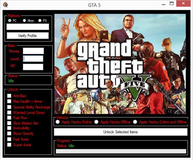 http://www.hackspedia.com/grand-theft-auto-gta-v-pc-playstation-xbox-hacks-cheats/