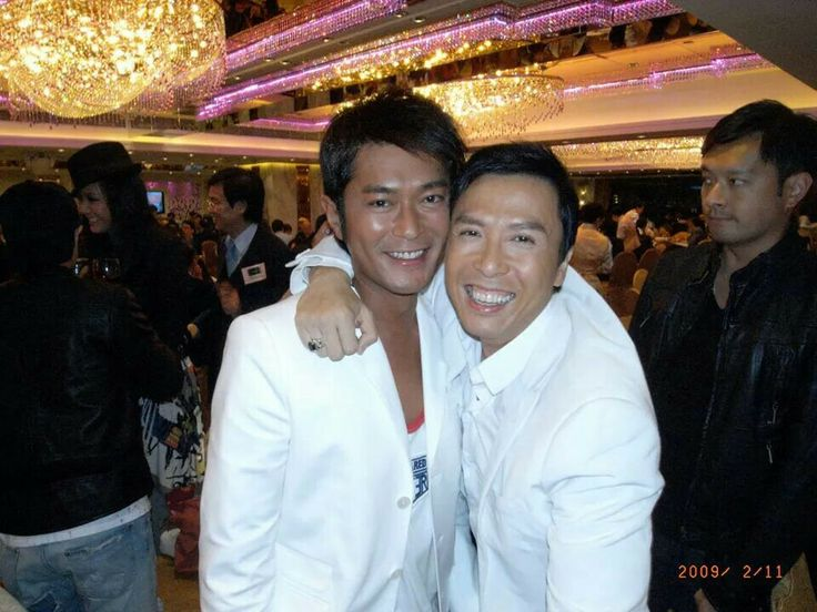 Louis Koo Chinese male actor and model from Hong Kong  & Donnie Yen