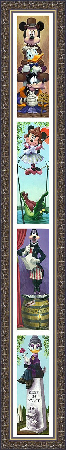 ✶ Haunted Mansion Photos as Disney Characters ★               ★Presentation by Peter Pan★