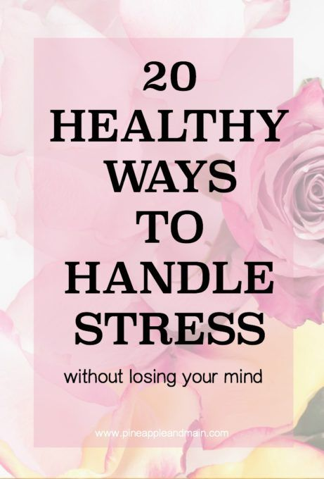 Stress affects our lives in many ways, sometimes making us ill or immobilizing us to the point that we can't cope with everyday activities. Here are 20 great ways to handle the stress in our lives. Click below!