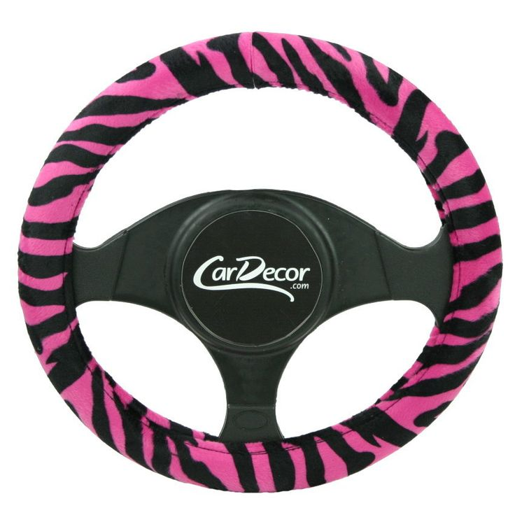 Girly Zebra Hot Pink Car Seat Cover Set Auto Accessory