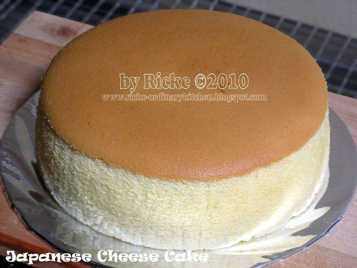"""Japanese Cheese Cake Oleh Ricke Indriani thx sudah @berbagiresep (Sumber: 35 Variasi Resep-resep Cheesecake by Yasaboga) Bahan: - 50 gram terigu - 50…"""