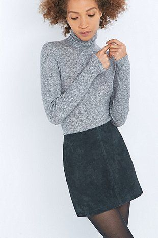 Urban Outfitters Suede Pelmet Mini Skirt