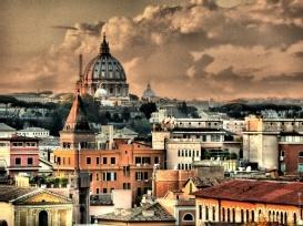Rome in pastel http://duespaghetti.com/2012/04/22/cacio-e-pepe-happy-birthday-roma/