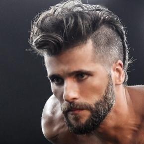 Barba grisalha e mocaino de Bruno Gagliasso