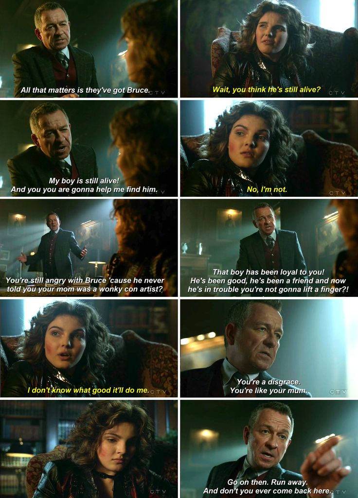 This not makes sense...being so cold about Bruce's safety and in 3x17 she was worried about him instead. I think Selina was emotionally devastated in the last episodes, traumatised...her new attitude is the consequence, the Catwoman's attitude. #selina #bruce #alfred #gotham 3x19