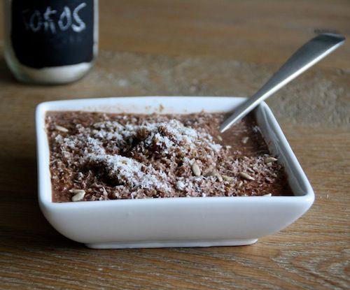 Chocolade Quinoa / Ontbijt met hazelnootmelk en kokos!