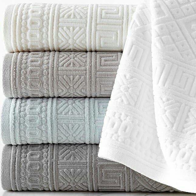Handtuch Aus Turkischer Baumwolle Damast Muster Silber 6