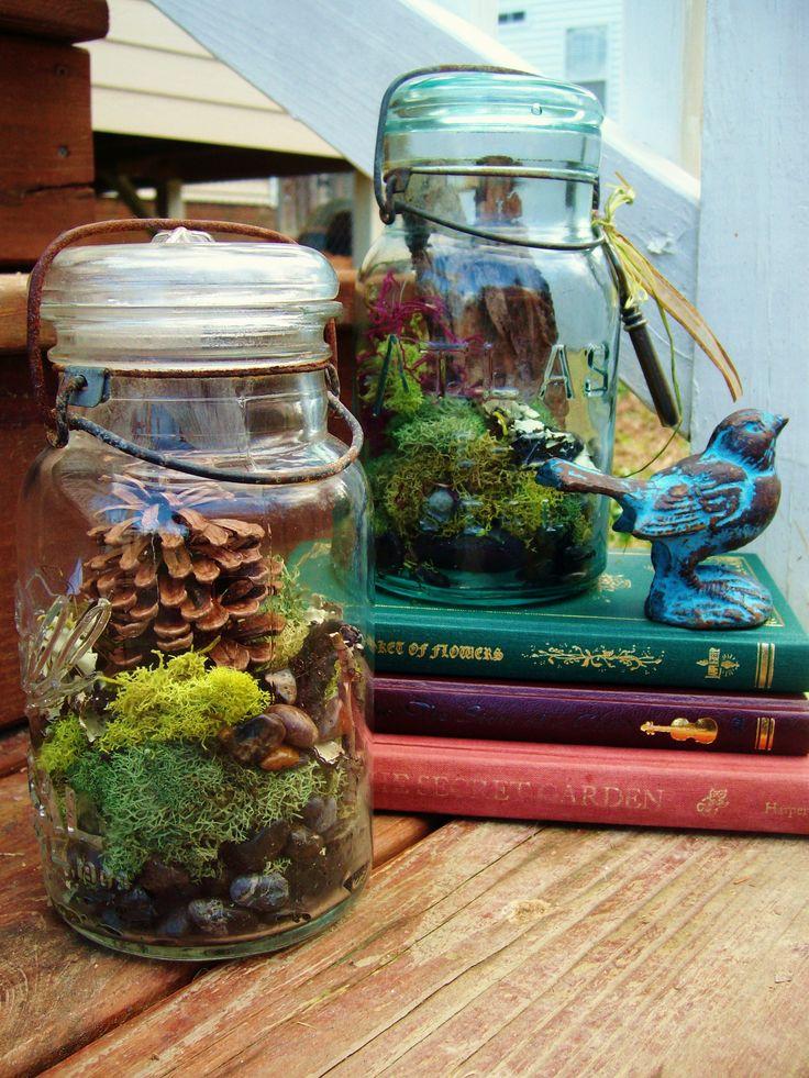 DIY Mason Jar Terrariums