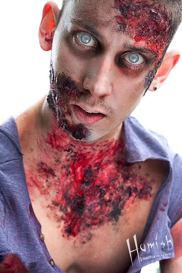 Zombie male makeup   makeup by MissTaarna MUA