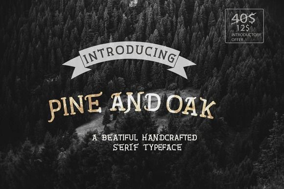 Pine and Oak Font Pack(70% OFF) by Roasted Coffee Studios on Creative Market