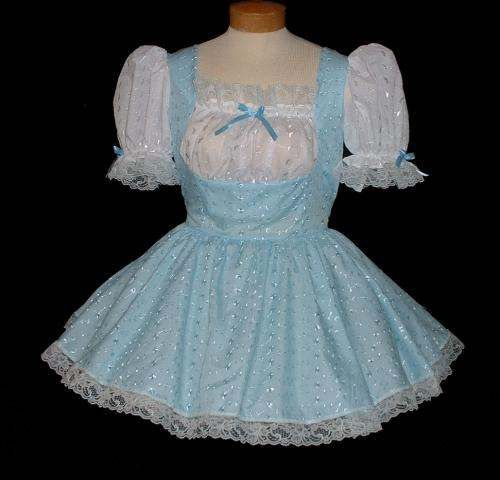 """BLUE LOLITA""  Eyelet French Maid UNIFORM"