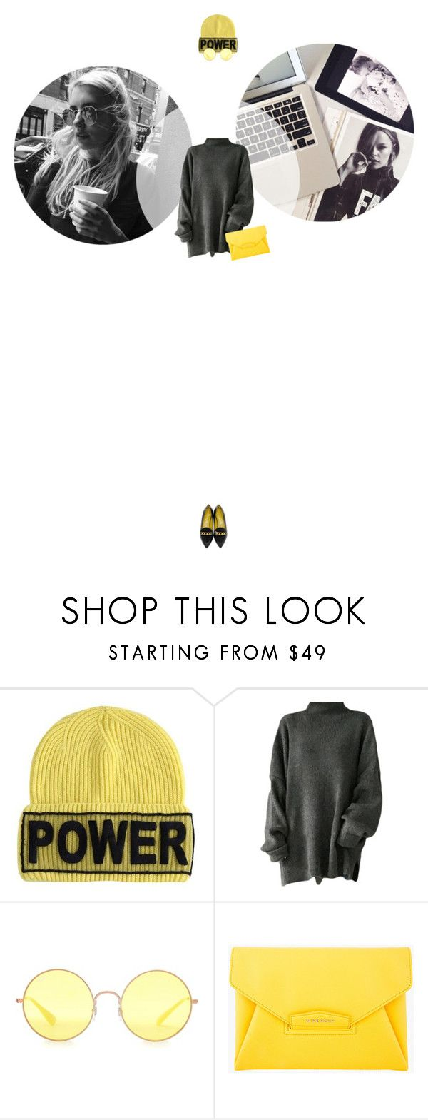 // 1333. Power. by lilymcenvy on Polyvore featuring Charlotte Olympia, Givenchy, Versace and Ray-Ban