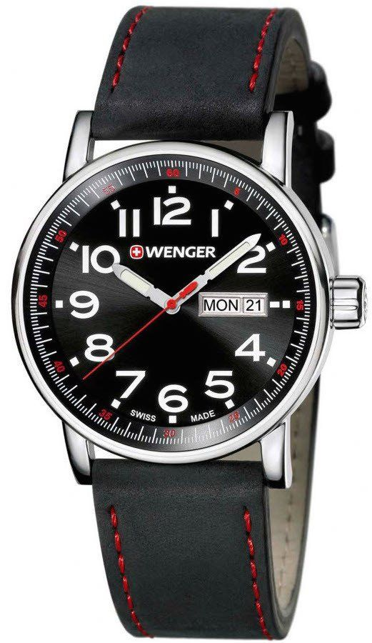 Wenger Watch Attitude Day Date #bezel-fixed #bracelet-strap-leather #brand-wenger #case-depth-10mm #case-material-steel #case-width-41mm #classic #date-yes #day-yes #delivery-timescale-4-7-days #dial-colour-black #gender-mens #movement-quartz-battery #new-product-yes #official-stockist-for-wenger-watches #packaging-wenger-watch-packaging #style-dress #subcat-attitude #supplier-model-no-01-0341-103 #warranty-wenger-official-3-year-guarantee #water-resistant-100m