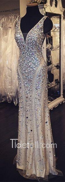 2016 long mermaid sparkly prom dress, evening dress