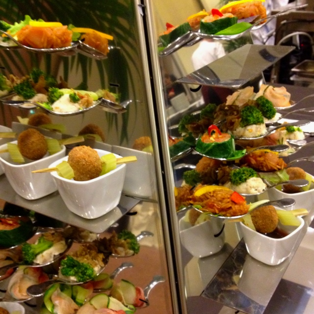 "Finger food @ Il Canneto Restaurant of Sheraton Hotel Malpensa, Milan.  ""Taste of Campania"" event."