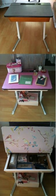 Restyled childs school desk