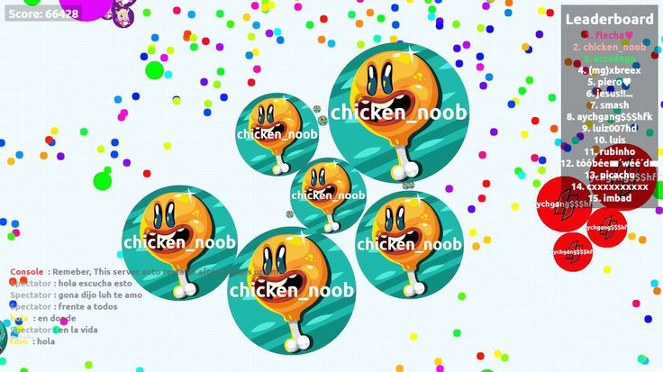 chicken_noob biggest cell ever agar.io 66428 mass - Player: chicken_noob / Score: 66428