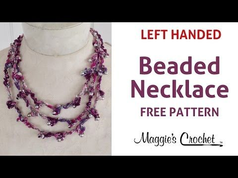 City Life Beaded Tiered Necklace Free Crochet Pattern - Left Handed - YouTube