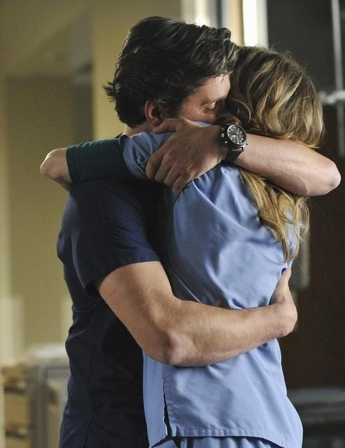 Patrick Dempsey and Ellen Pompeo in Grey's Anatomy - Derek and Meredith
